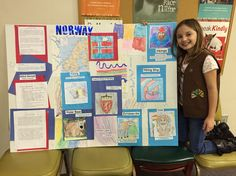 Alexis' Brownie troops World Thinking Day project; Norway