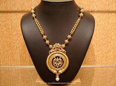 Light Weight Gold Antique Necklace Design