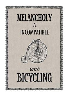 La melancolía es incompatible con la bici