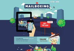 Illustrated and vector websites - Mailboxing - #webdesign #layout #inspiration