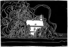 """Jörn Gerstenberg, Klausur, Format 31 x 43cm, PVC-Druck, 2013 © Jörn Gerstenberg/ in our current exhibition at Kubin-House Zwickledt: """"Vage Geschichten über das Los eines Schwierigen"""" Architectural Drawings, See Photo, Darth Vader, Architecture, Fictional Characters, Linz, Arquitetura, Fantasy Characters, Architecture Design"""