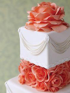 Peach rose cake