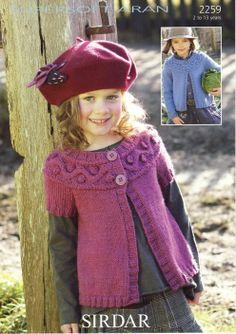 Cardigan in Sirdar Supersoft Aran Knitting Pattern - I Crochet World Sirdar Knitting Patterns, Knitting Designs, Knit Patterns, Knitting For Kids, Free Knitting, Baby Sweaters, Knit Crochet, Knitting Supplies, 4 Years