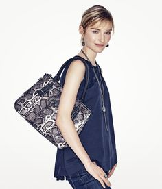 Tip: Snakeskin bags are statement pieces that are always in style. Shop Simply Vera Vera Wang at Kohl's.