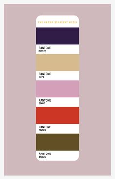 The Grand Budapest Hotel Color Palette                                                                                                                                                                                 More