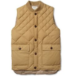 Rugged Chic: YMC Quilted Cotton-Blend Gilet