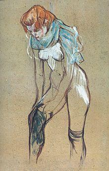 """""""Maria Laterza"""" by Henri de Toulouse-Lautrec standing semi-nude female drawing. Henri De Toulouse Lautrec, Art Challenge, Erotic Art, Figure Drawing, Figurative Art, Les Oeuvres, Canvas Art, Canvas Prints, Art History"""