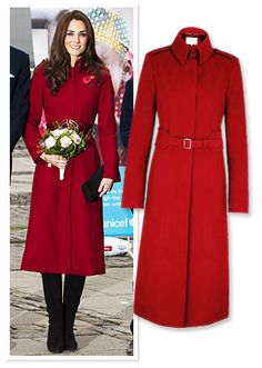 Kate Middleton's red L.K. Bennet coat for Denmark UNICEF visit.