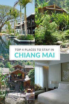 From rural homestays to the ultimate in luxury, 4 great places to stay in the province of Chiang Mai, Thailand.