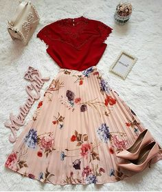 skirts in 2019 fashion outfits, outfits, cute outfits. Mode Outfits, Skirt Outfits, Korean Outfits, Casual Outfits, Pretty Outfits, Pretty Dresses, Beautiful Outfits, Cute Fashion, Modest Fashion