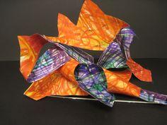 Warm/Cool Paper Sculpture; 2nd grade