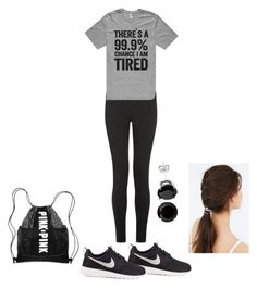 """WORKOUT"" by sierra-light ❤ liked on Polyvore featuring NIKE, JEM, women's clothing, women, female, woman, misses and juniors"