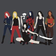 Women of the Whedonverse - I've only got four :S  Black Widow, Buffy, Zoe Washburn and River Tam...