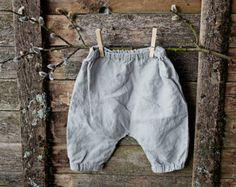 Linen Baby Trousers Peppermint Green Pants Washed Linen