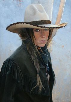 Cowgirl by Marcia Molnar Cowgirl And Horse, Western Girl, Cowgirl Hats, Cowboy And Cowgirl, Cowgirl Style, Vaquera Sexy, Vintage Cowgirl, Cowgirls, Love Hat