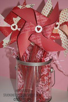 "DIY, Valentine's Pinwheel with a Licorice ""Stick"""