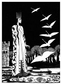 """Kay Rasmus Nielsen (1886-1957) - The Six Swans (from """"Red Magic""""), 1930"""