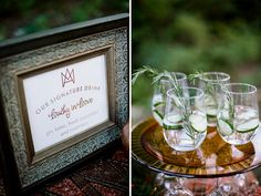 "Jenna Henderson, Photographer: Nashville Wedding Photographer - ""Lucky In Love"" signature cocktail - Copper & Emerald Wedding Inspiration -"