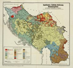 An ethnic map of Yugoslavia made by Germany in 1940