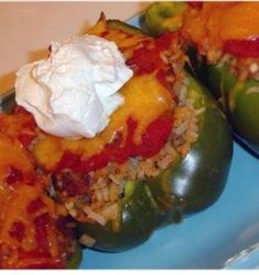 Recipe For  Mexican Style Stuffed Peppers