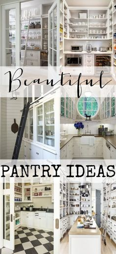 The Most Beautiful Pantries & Butler's pantries. Tons of pictures full of inspiration and ideas!!