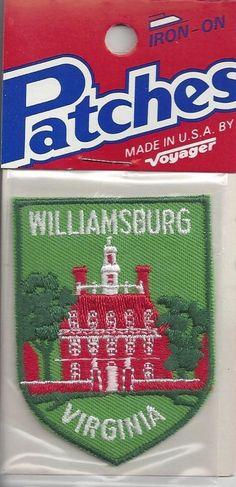 Souvenir Voyager Patch Williamsburg Virginia | eBay