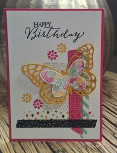 Stampin Up, Butterflie Basics, washi tape, Workshop creaties