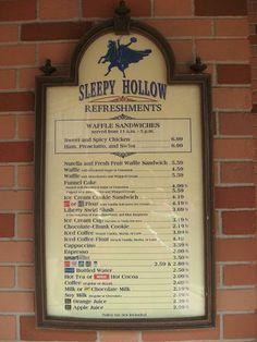 sleepy hollow world menu
