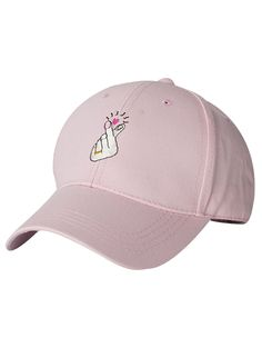 Heart Gesture Embroidery Baseball Cap For Women 4.95 USD