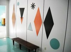 I SO want this!!! It's an example of decorative laminate inlays on the walls. How awesome is that? (1959)