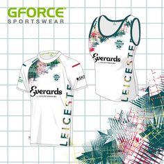 Adding a splash of dye-sub colour to this t-shirt & vest Team Wear, Vest Pattern, T Shirt Vest, Design Your Own, Kit, Colour, Unique, Clothes, Color