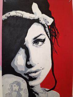 Paint illustration of Amy Winehouse.