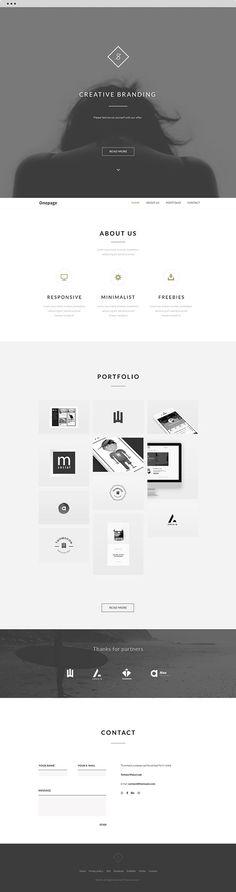FREE Landing Website | Clean theme | Behance API + PSD on Behancehttps://www.behance.net/gallery/21699611/FREE-Landing-Website-Clean-theme-Behance-API-PSD