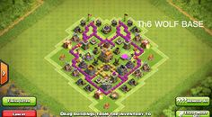 TH6 Clash of Clans Wolf Shaped Base