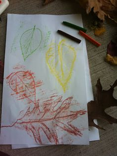 Take a nature walk (if it's not too snowy!), collect leaves, and make some neat leaf rubbings!