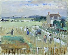 Berthe Morisot - Hanging the laundry out to dry 1875
