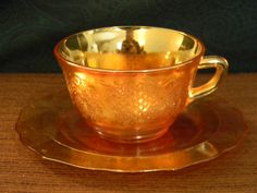 Beautiful Vintage Tea Cup & Saucer by Federal Glass by lucybell60, $8.00