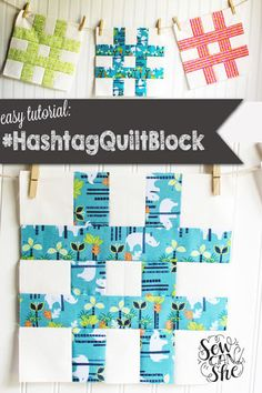 This may not be a traditional quilt block, but I think it's a new classic!  Have you sewn a hashtag quilt block yet? It's so easy, you have to add this  to your sampler quilt.  And it's super fast! I stitched up 9 in an afternoon... perfect for a baby  quilt.