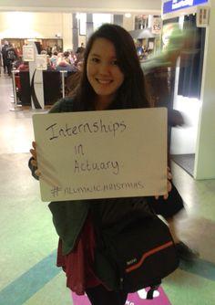 Internships in actuary