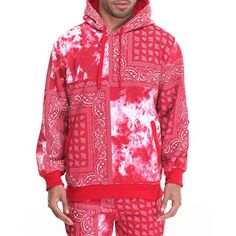(ベーシック エッセンシャルズ) Basic Essentials メンズ トップス トレーナー・パーカー bandana/tie - dye hoodie 並行輸入品 新品【取り寄せ商品のため、お届けまでに2週間前後かかります。】 表示サイズ表はすべて【参考サイズ】です。ご不明点はお問合せ下さい。 カラー:Red