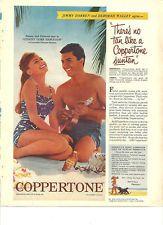 James Darren, Deborah Walley, Coppertone Suntan Lotion, Vintage Ad