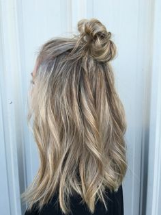 Half up top knots and loose waves