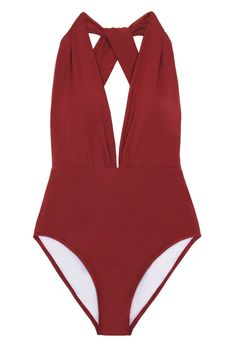 BEACH JOY Halter One Piece One Piece | Maroon|