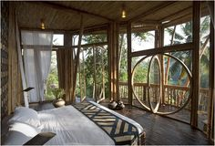 Ibuku Architecture is committed to the development of bamboo as a sustainable building material. Using only bamboo, they have constructed these incredible buildings for the renowned green school and adjacent green village in the Ayung River Valley in Bali, Indonesia. The master-planned community is inspired by the surrounding jungle and traditional Indonesian architecture, harboring an authentic connection between the residents and their surroundings.