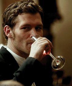 Joseph Morgan ...as Klaus.  Cheers Gorgeous!