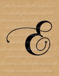 Buchstabe E Herzen 276 digitaler Download von phraseandfable