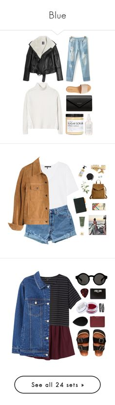 """Blue"" by firefly15-1 ❤ liked on Polyvore featuring Lot78, Hinge, Balenciaga, Rebecca Taylor, Fig+Yarrow, rag & bone, Levi's, Madewell, Pier 1 Imports and Aveda"