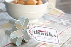 cute holiday favors. Add clip to hold placecard/ food order