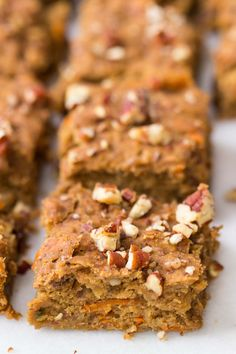These morning glory quinoa breakfast bars are a portable, high-protein way to start your day. They're sweetened naturally, with no eggs, gluten or dairy!