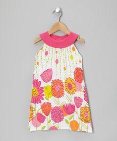 White & Pink Floral Yoke Dress - Infant & Toddler #zulily *So sweet